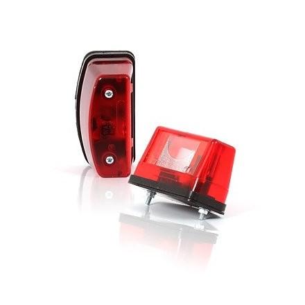 Lampa numar circulatie rosu cu bec 12v-24V