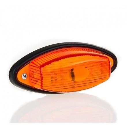 Lampa pozitie ovala cu bec portocaliu