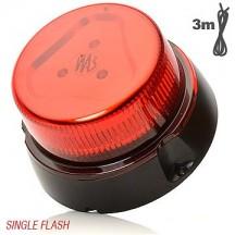 Girofar cu LED 1 functie rosu 12-24V