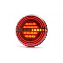 Lampa rotunda spate LED  flat cu 3 functii