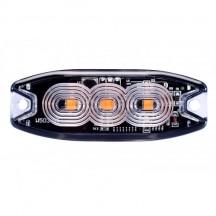 Lampa avertizare stroboscop 3LED portocaliu
