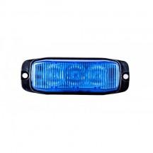 Lampa avertizare stroboscop 3LED albastru